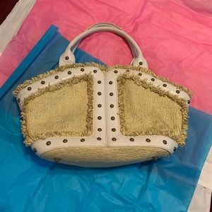 BCBG Girls Purse Straw/leather